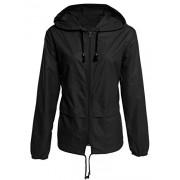 Bifast Women's Quick-Drying Front-Zip Lightweight Packable Hoodie Hiking Outdoor Raincoat Jacket - Outerwear - $33.99