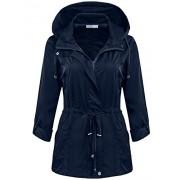 Bifast Women's Waterproof Front-Zip Lightweight Hoodie Hiking Outdoor Raincoat Jacket with Pocket S-XXL - Outerwear - $35.99  ~ 30.91€