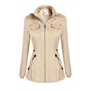 Bifast Women's Zip Up Versatile Military Anorak Jacket Hooded with Pockets M-XXXL - Outerwear - $49.99