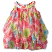 Biscotti Baby Girls' Covered In Roses Vertical Ruffle Dress - Dresses - $12.79