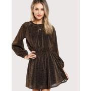 Bishop Sleeve Transparent Dress - Dresses - $11.00