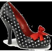 Black Polka Dot Platform Pump With Bow Tie - 10 - Shoes - $50.00