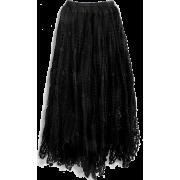 Black Crocheted Skirt - Skirts -
