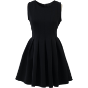 Black Skater Dress - Dresses -
