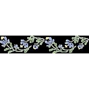 Blue Floral Border Stencil - Illustrations -
