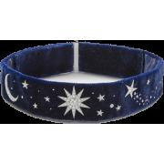Blue Velvet Moon and Star Choker - Necklaces -