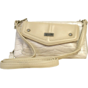Bone Beige Buxton Croco Remix String Along Cross Body Wallet - Wallets - $18.43