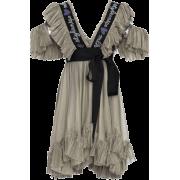 Vestido gris con lazo - ワンピース・ドレス -