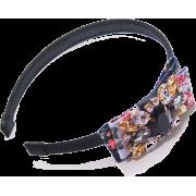 Bow-appliquèd Satin Headband - Hat - $48.50