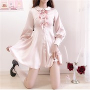 Bow tie pearl shirt skirt - Haljine - $27.99  ~ 24.04€