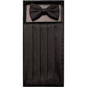 Boys Black Patterned Cummerbund and Bow Tie Set - Tie - $19.95