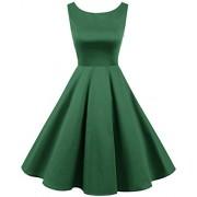 Bridesmay Vintage 1950s Rockabilly Audrey Lace-up Back Dress Retro Cocktail Dress - Dresses - $39.99