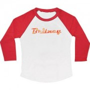 Britney Spears Logo Girls Jr Raglan Tee White - Shirts - $40.11
