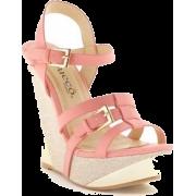 Bucco Wedge Sandals - Plutarice -