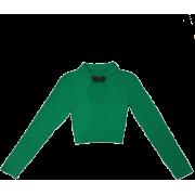 Buckle versatile three-dimensional long- - Shirts - $19.99