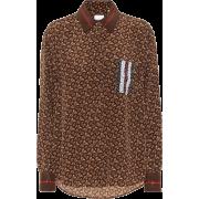 Burberry Monogram Stripe printed silk s - Long sleeves shirts -