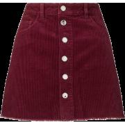 Burgundy skirt - Skirts -
