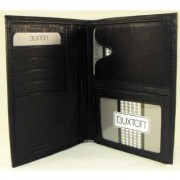 Buxton Black Leather Passport Wallet - Wallets - $24.99
