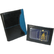 Buxton Executive Two-fold Weekender wallet with removable front pocket card case BlackBlue - Wallets - $21.48