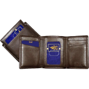 Buxton Original Men's Emblem ID Three-Fold Leather Goods Brown - Wallets - $21.90