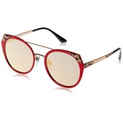 Bvlgari BV6095 20274Z Matte Pink BV6095 Round Sunglasses Lens Category 3 Lens M - Eyewear -