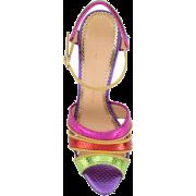 CHARLOTTE OLYMPIA Isla rainbow sandals - Sandals - $394.00