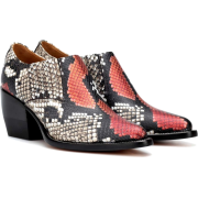 CHLOÉ Rylee snake-print leather ankle bo - Boots - $880.00
