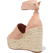CHLOÉ espadrille wedge sandals  - Sandale -