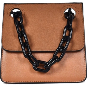 CHUNKY ACRYLIC CHAIN STRAP SHOULDER BAG - Messenger bags - $34.97