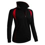 CLOVERY Women's ActiveWear POLO Shirt Long Sleeve Zipup - Long sleeves t-shirts - $9.99