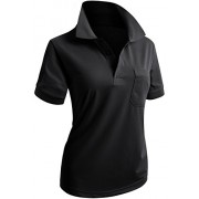 CLOVERY Women's Casual PK Polo Shirts 3-Button Short Sleeve - T-shirts - $9.99