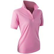 CLOVERY Women's Sport Wear 2-Button Polo Short Sleeve Shirt - T-shirts - $15.99