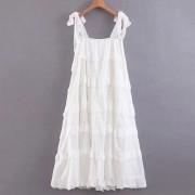 Cake tiered swing skirt strap dress - Haljine - $39.99  ~ 254,04kn