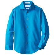 Calvin Klein Boys' Long Sleeve Sateen Dress Shirt - Shirts - $14.10