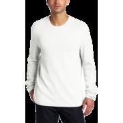 Calvin Klein Sportswear Men's Crew Neck Waffle Sweater Snow White - Cardigan - $79.50