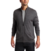 Calvin Klein Sportswear Men's Long Sleeve Full Zip Mock Merino Sweater Pave - Cardigan - $55.99