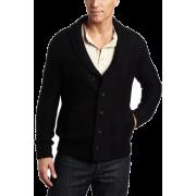 Calvin Klein Sportswear Men's Shawl Collar Geurnsey Cardigan Black - Cardigan - $118.00