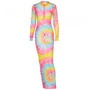 Camouflage long sleeve zipper round neck dress - Vestidos - $21.99  ~ 18.89€
