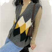 Cardigan sleeveless sweater vest - 坎肩 - $29.99  ~ ¥200.94