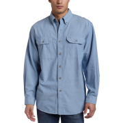 Carhartt Men's Chambray Shirt Chambray Blue - Long sleeves shirts - $26.99