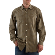 Carhartt Men's Long-Sleeve Light Weight Plaid Shirt Dark Coffee - Long sleeves shirts - $16.22