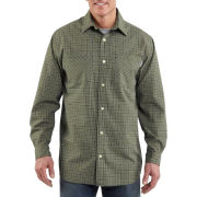 Carhartt Men's Long-Sleeve Light Weight Plaid Shirt Forest green - Long sleeves shirts - $16.22
