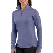 Carhartt WK121 Women's Quarter-Zip Thermal Knit Blue Dusk - Long sleeves t-shirts - $34.99