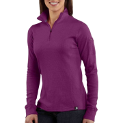 Carhartt WK121 Women's Quarter-Zip Thermal Knit Bright Purple - Long sleeves t-shirts - $34.99