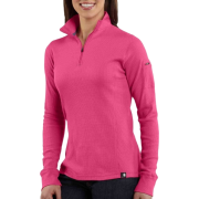 Carhartt WK121 Women's Quarter-Zip Thermal Knit Morning Rose - Long sleeves t-shirts - $34.99