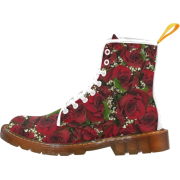 Carmine Roses Martin Boots - Shoes - $56.99