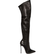 Casadei Leather Thigh High Boots - Boots -