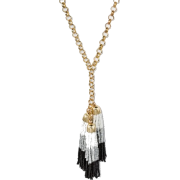 Cascading Beaded Tassel Necklace - ネックレス - $16.99  ~ ¥1,912