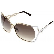Cesare Paciotti Sunglasses Womens CPS 152 07 Silver Gold Rectangle - Eyewear -