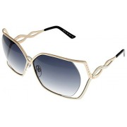 Cesare Paciotti Sunglasses Womens CPS 152 08 Light Gold Rectangle - Eyewear -